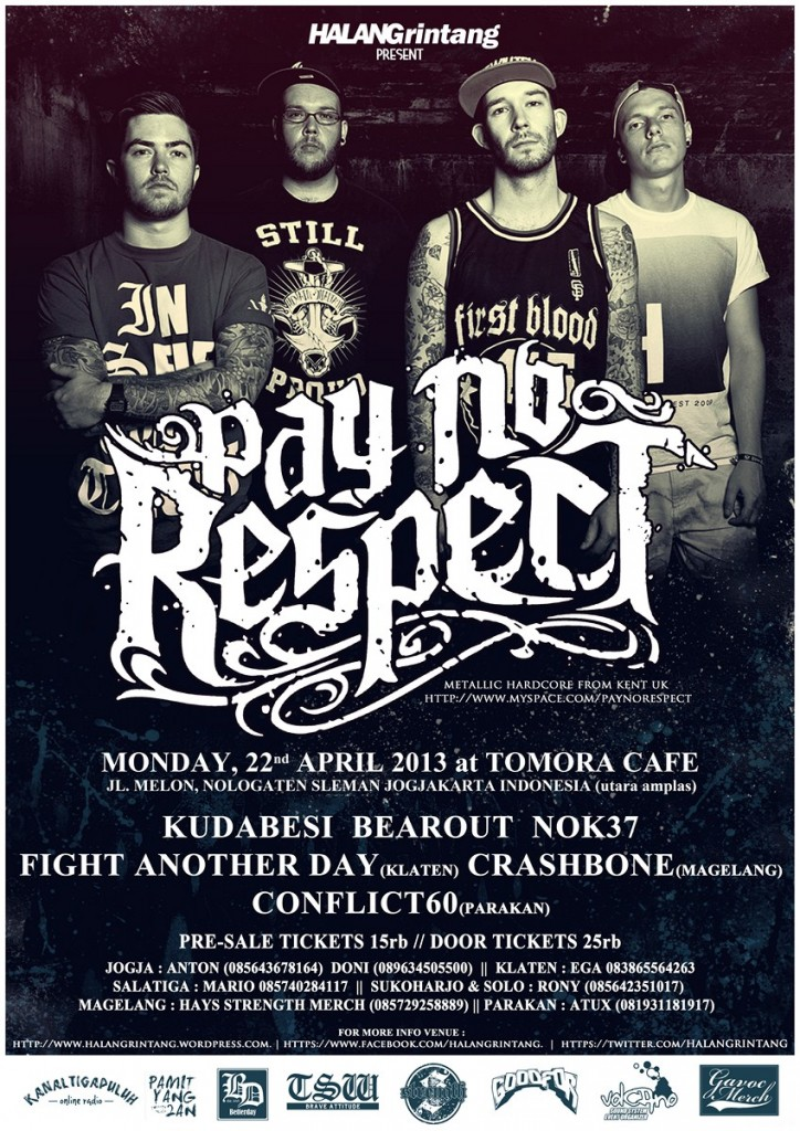 halang rintang PAY NO RESPECT tour poster