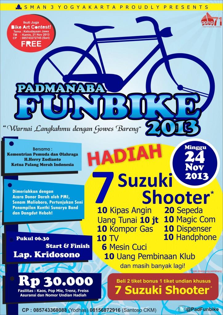Poster Padmanaba Funbike 2013