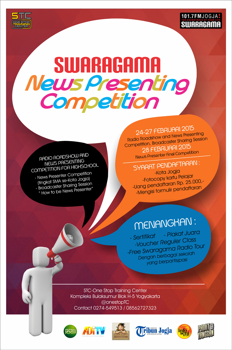 Swaragama News Presenting Competition Poster edit
