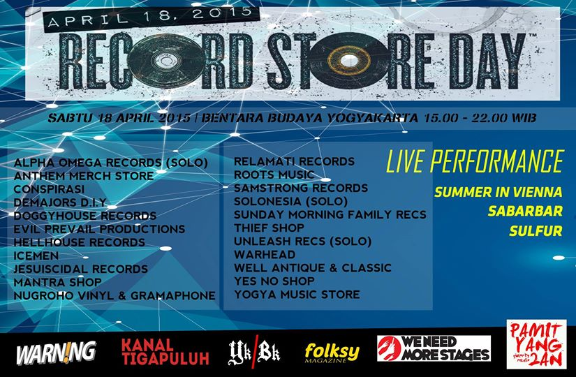 Records Store Day 2015 chapter Yogyakarta