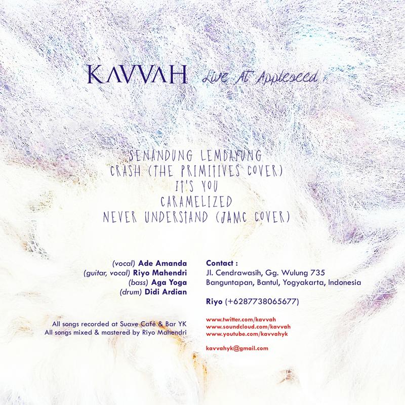 KAVVAH cd sleeve (back)