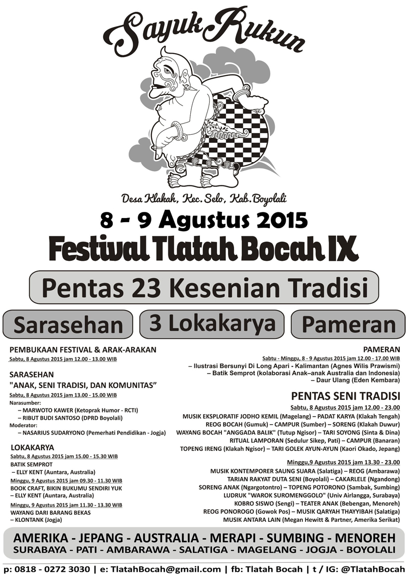 Poster Festival Tlatah Bocah IX