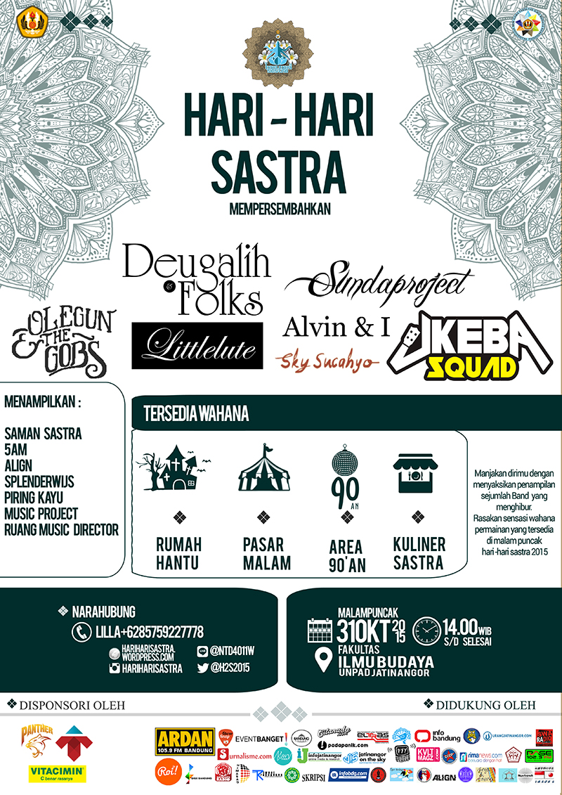 Poster Fix Hari Hari Sastra