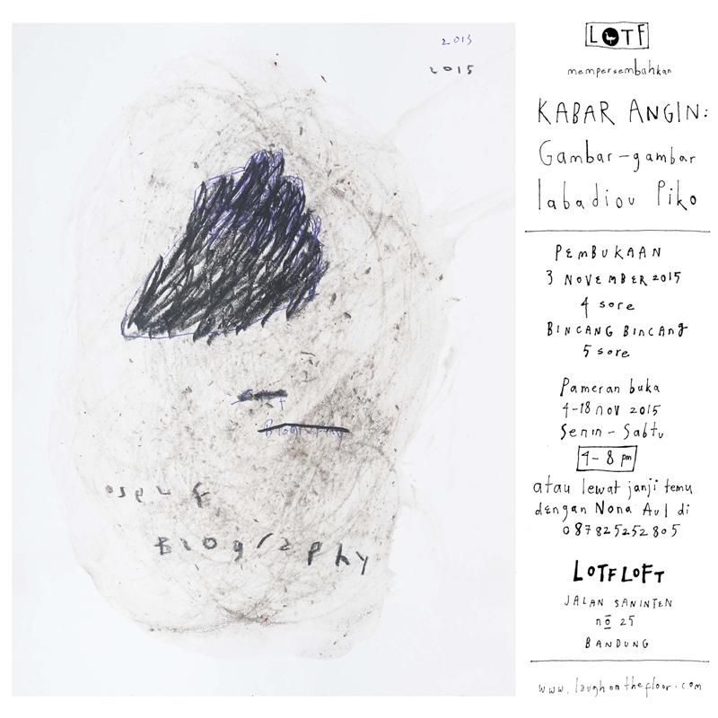 Poster Pameran Kabar Angin Gambar-gambar Iabadiou Piko di LOTF LOFT - IG 4