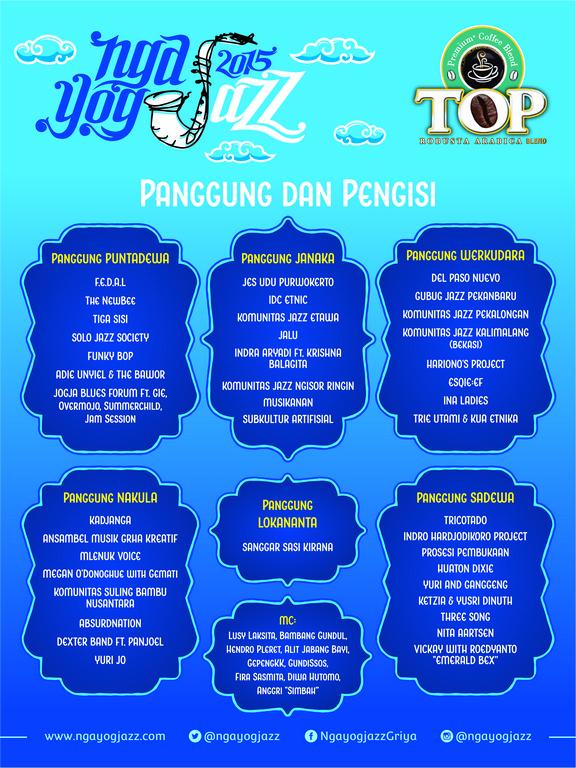 Daftar Penampil Ngayogjazz