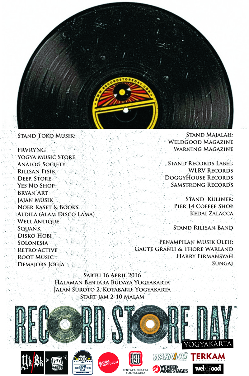 Records Store Day 2016 chapter Yogyakarta