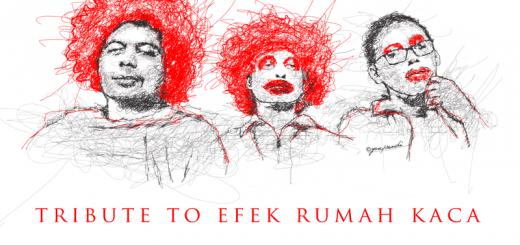 Artwork Cover - Album Tribute to Efek Rumah Kaca (Kredit ilustrasi oleh Yosep Rendi)