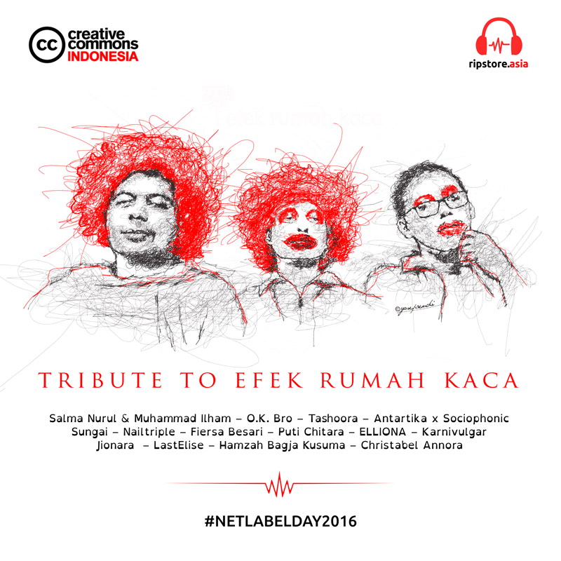 Artwork Cover - Album Tribute to Efek Rumah Kaca (Kredit ilustrasi oleh Yosep Rendi)