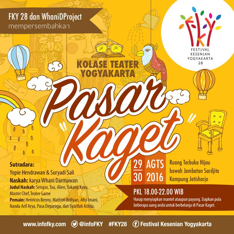 ePoster Teater FKY 28 - Pasar Kaget