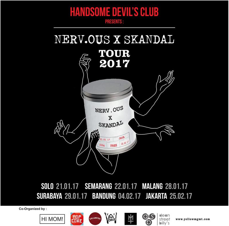 Poster Nervous X Skandal Tour 2017