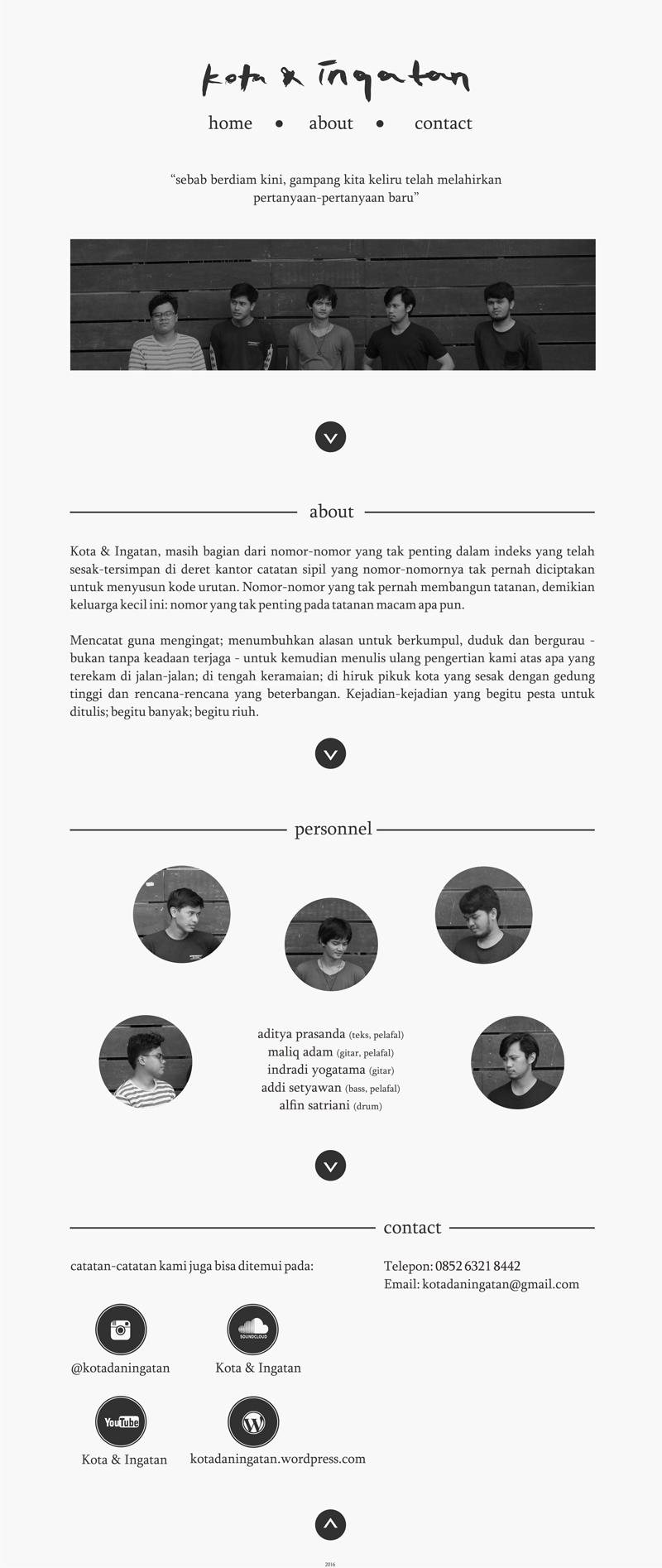 Profil Kota & Ingatan 2016
