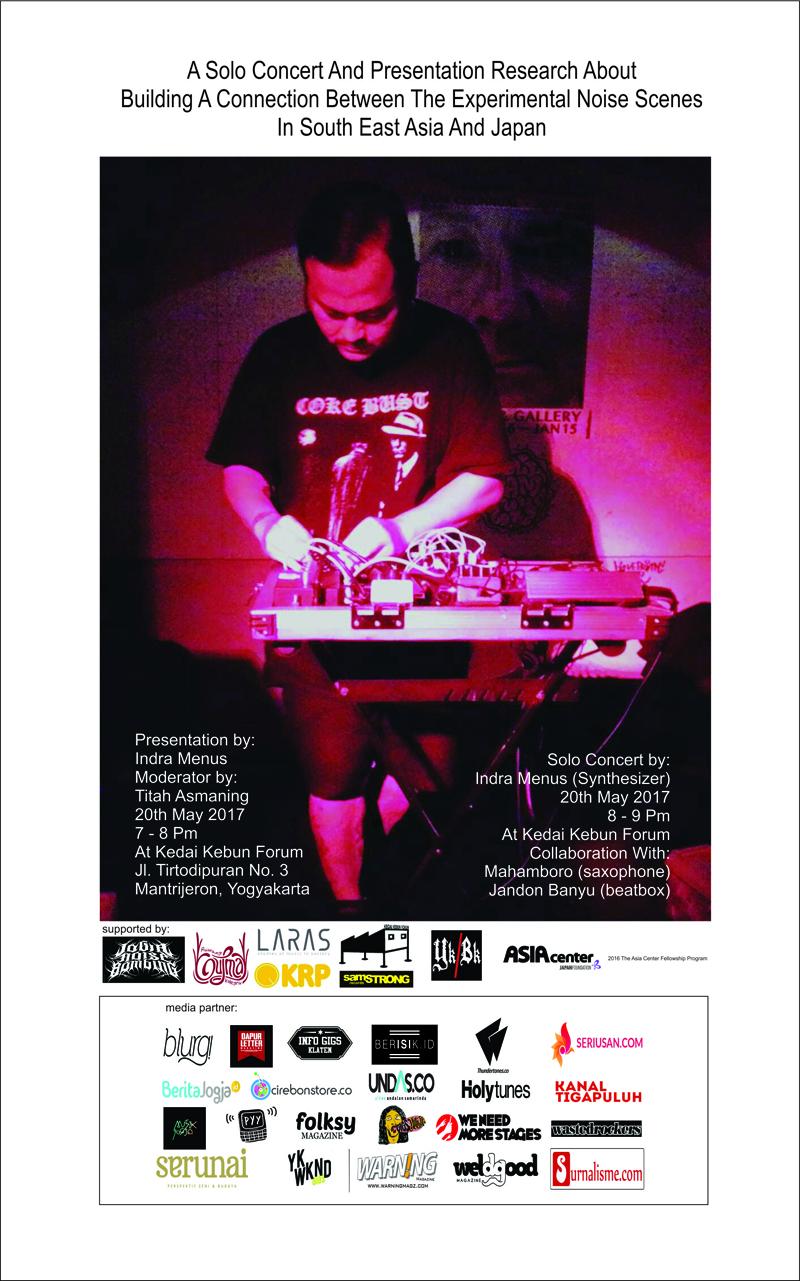 1. Flyer Konser Solo dan Presentasi Indra Menus
